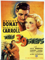 The 39 Steps, editorial content, spy movies, podcasts,espionage, Alfred Hitchcock, Robert Donat