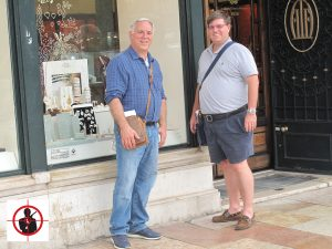 Tom and Dan Background - On location in Lisbon Portugal On Her Majesty's Secret Service, jewelry shop, Tracy's ring