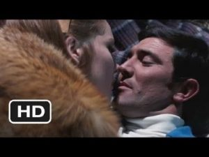 James Bond (George Lazenby) and Tracy (Diana Rigg) in the barn