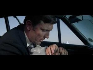 George Lazenby as James Bond - see his expression when he looks at Tracy's dead body